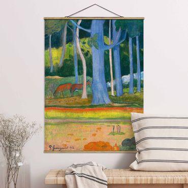 Foto su tessuto da parete con bastone - Paul Gauguin - Paesaggio Foresta - Verticale 4:3