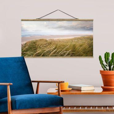 Foto su tessuto da parete con bastone - dune di sogno - Orizzontale 1:2