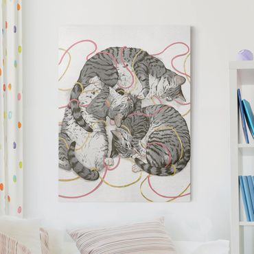 Quadri su tela - Illustrazione Grey Cat Pittura