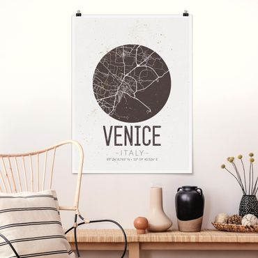Poster - Mappa Venezia - Retro - Verticale 4:3