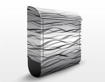 Cassetta postale Waves Allover Print Design 39x46x13cm