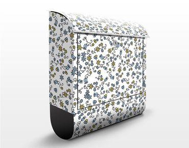 Cassetta postale Mille Fleurs Floral Pattern 39x46x13cm