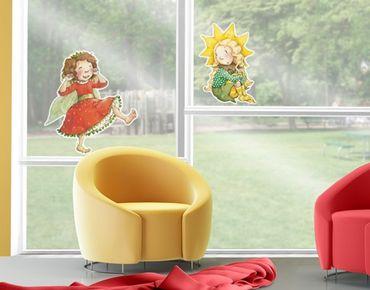Adesivi da finestra no.677 Erdbeerinchen Erdbeerfee - A Sunny Day