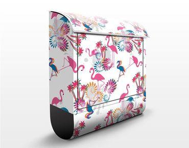 Cassetta postale Flamingo Design 39x46x13cm