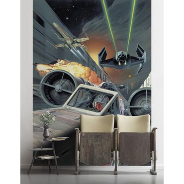 Carta da parati per bambini - Star Wars Classic Death Star Trench Run - Komar fotomurale