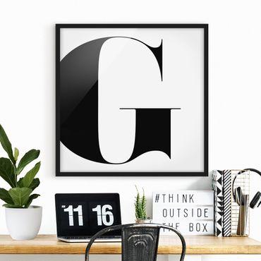 Poster con cornice - Antiqua Letter G - Quadrato 1:1
