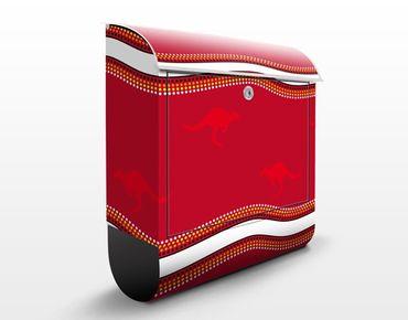 Cassetta postale Red Kangaroo Pattern 39x46x13cm