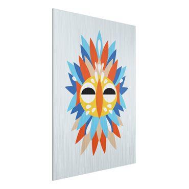 Stampa su alluminio spazzolato - Collage Mask Ethnic - Parrot - Verticale 4:3
