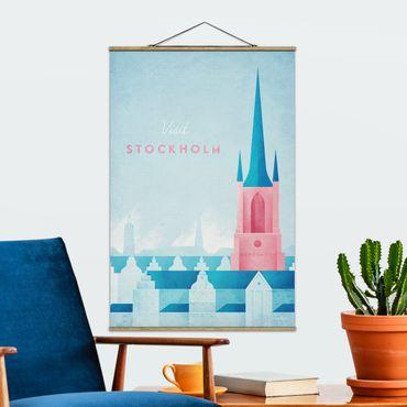 Foto su tessuto da parete con bastone - Poster Viaggi - Stoccolma - Verticale 3:2