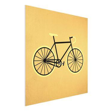 Stampa su Forex - Bicicletta in giallo - Quadrato 1:1