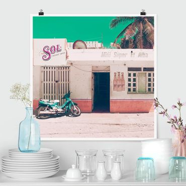 Poster - Minimarket Vintage - Quadrato 1:1