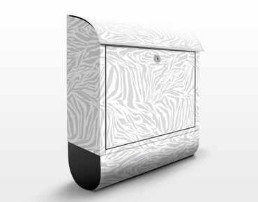 Cassetta postale Zebra Design Lightgrey 39x46x13cm