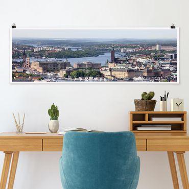 Poster - Stoccolma - Panorama formato orizzontale