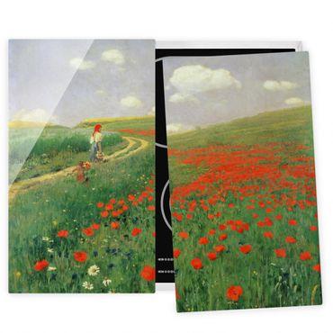 Coprifornelli in vetro - Pál Szinyei-Merse - Paesaggio estivo con una fioritura di papavero - 52x80cm