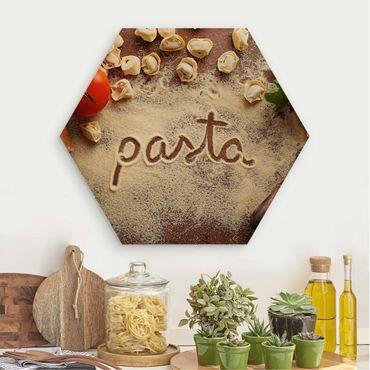Esagono in legno - Pasta Italiana