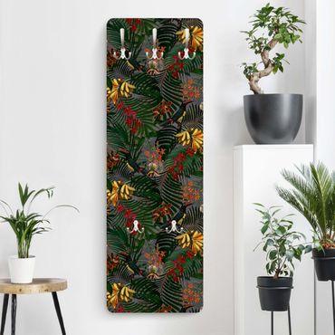 Appendiabiti - Tropical Felci Con Tucan Verde