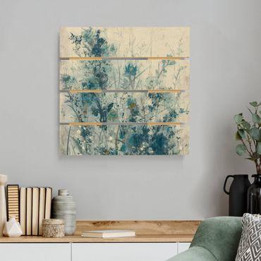 Stampa su legno - Blue Spring Meadow I - Quadrato 1:1