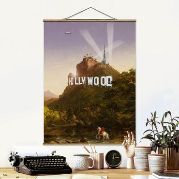 Foto su tessuto da parete con bastone - Pittura Hollywood - Verticale 4:3