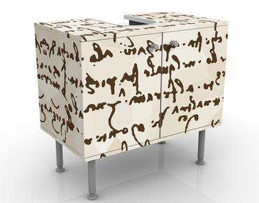 Mobile per lavabo design Da Vinci Manuskript