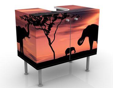 Mobile per lavabo design African Elefant Family
