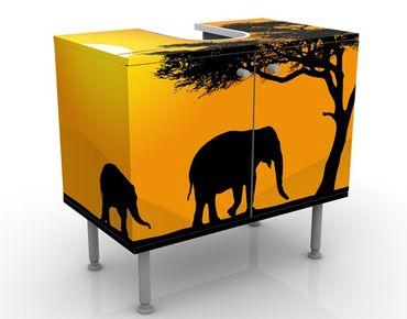 Mobile per lavabo design African Elefant Walk