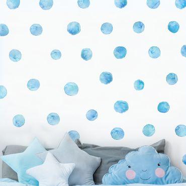 Adesivo murale - Punti Acquarello Blu