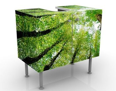 Mobile sottolavabo - Alberi della vita - Mobile bagno verde