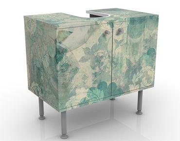 Mobile sottolavabo - Fiori di ghiaccio - Mobile bagno vintage blu