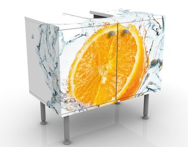 Mobile per lavabo design Fresh Orange