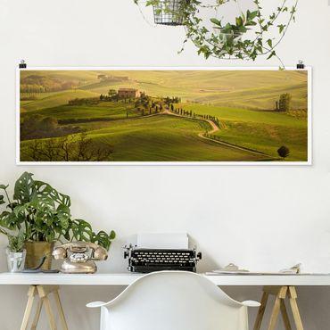 Poster - Chianti Toscana - Panorama formato orizzontale