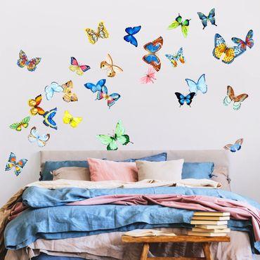 Adesivo murale - Acquerello farfalle Set