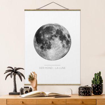 Foto su tessuto da parete con bastone - La Luna - La Lune - Verticale 4:3