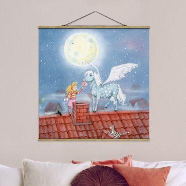 Foto su tessuto da parete con bastone - Magia Pony di Marie - Quadrato 1:1
