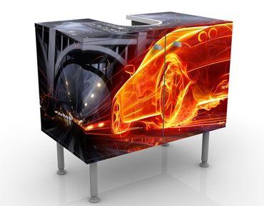 Mobile per lavabo design Car In Fire