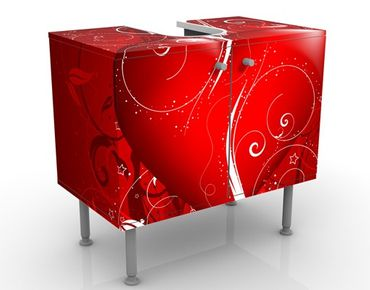 Mobile per lavabo design Floral Heart