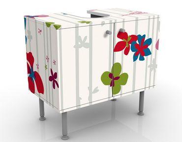 Mobile per lavabo design Floral Pattern