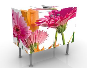 Mobile per lavabo design Flower Melody