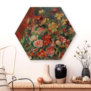 Esagono in legno - Auguste Renoir - Vaso