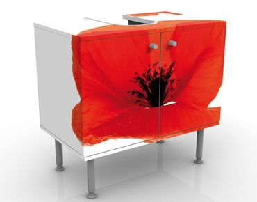 Mobile per lavabo design Charming Poppies