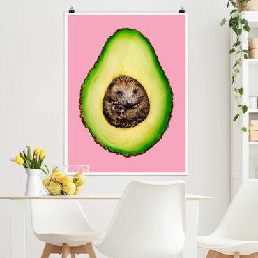 Poster - Avocado Con Hedgehog - Verticale 4:3