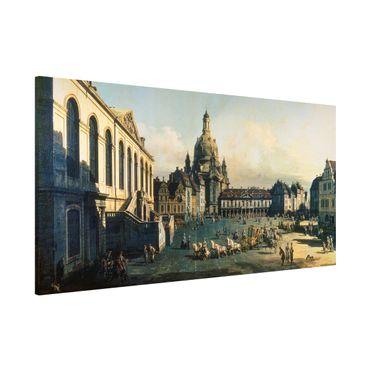 Lavagna magnetica - Bernardo Bellotto - Il Nuovo Mercato A Dresda - Panorama formato orizzontale