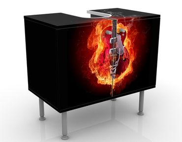 Mobile per lavabo design Guitar in Flames