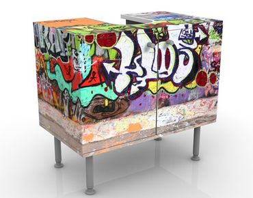 Mobile per lavabo design Graffiti