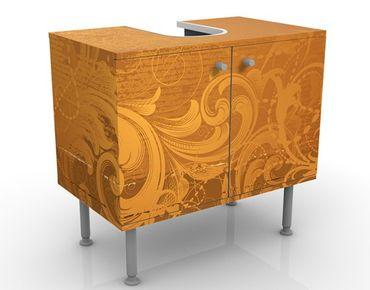 Mobile per lavabo design Golden Baroque