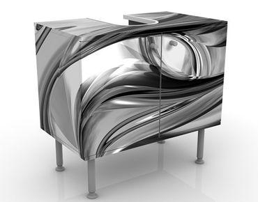 Mobile sottolavabo - Illusione II - Mobile bagno bianco, nero e grigio
