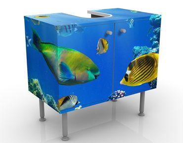 Mobile sottolavabo - Luci sottomarine - Mobile bagno blu