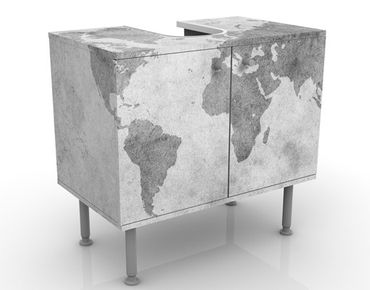 Mobile per lavabo design Vintage Worldmap II