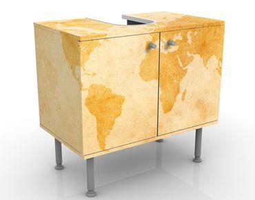 Mobile per lavabo design Vintage Worldmap