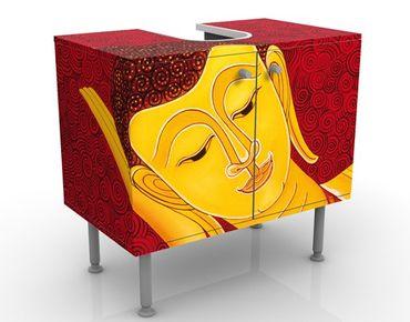 Mobile sottolavabo - Taipei Buddha - Mobile bagno giallo e rosso