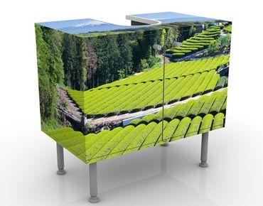 Mobile per lavabo design Tea Fields In Front Of The Fuji
